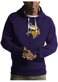 Minnesota Vikings Antigua Victory Hooded Sweatshirt - Purple