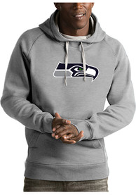 Seattle Seahawks Antigua Victory Hooded Sweatshirt - Grey