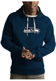 Seattle Seahawks Antigua Victory Hooded Sweatshirt - Navy Blue