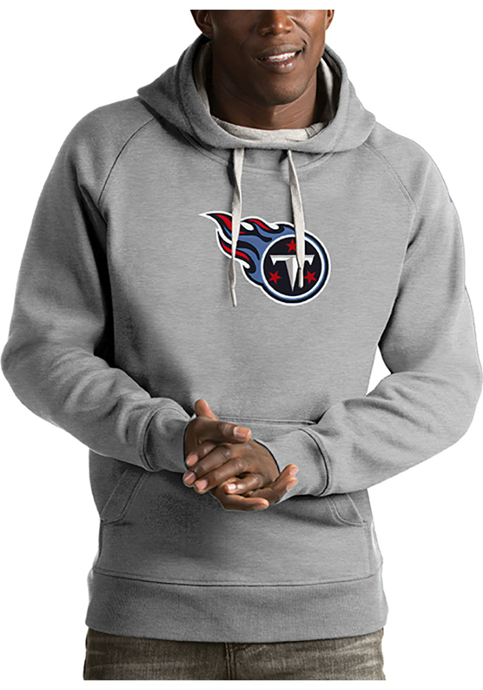 Antigua Tennessee Titans Mens Grey Victory Long Sleeve Hoodie - Image 1