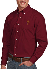 Arizona State Sun Devils Antigua Dynasty Dress Shirt - Maroon
