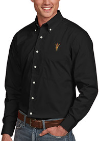 Arizona State Sun Devils Antigua Dynasty Dress Shirt - Black