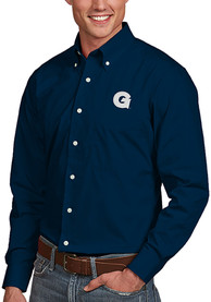 Georgetown Hoyas Antigua Dynasty Dress Shirt - Navy Blue
