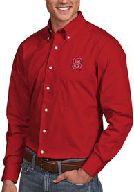 NC State Wolfpack Antigua Dynasty Dress Shirt - Red