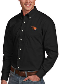 Oregon State Beavers Antigua Dynasty Dress Shirt - Black