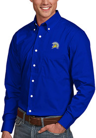 San Jose State Spartans Antigua Dynasty Dress Shirt - Blue
