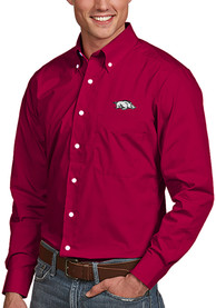 Arkansas Razorbacks Antigua Dynasty Dress Shirt - Cardinal