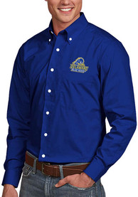 Delaware Fightin' Blue Hens Antigua Dynasty Dress Shirt - Blue