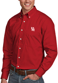 Houston Cougars Antigua Dynasty Dress Shirt - Red