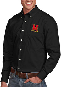 Maryland Terrapins Antigua Dynasty Dress Shirt - Black