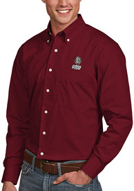 UMD Bulldogs Antigua Dynasty Dress Shirt - Maroon