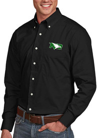 North Dakota Fighting Hawks Antigua Dynasty Dress Shirt - Black