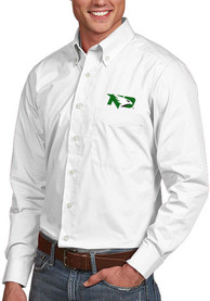 North Dakota Fighting Hawks Antigua Dynasty Dress Shirt - White