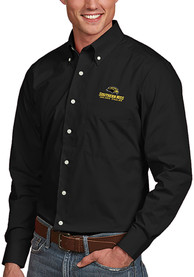 Southern Mississippi Golden Eagles Antigua Dynasty Dress Shirt - Black