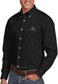 Virginia Tech Hokies Antigua Dynasty Dress Shirt - Black