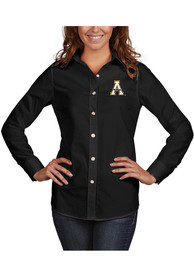 Appalachian State Mountaineers Womens Antigua Dynasty Dress Shirt - Black