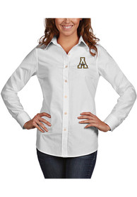 Appalachian State Mountaineers Womens Antigua Dynasty Dress Shirt - White