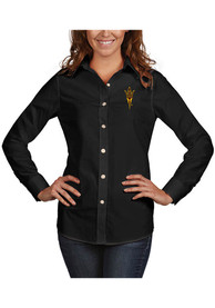 Antigua Arizona State Sun Devils Womens Black Dynasty Dress Shirt