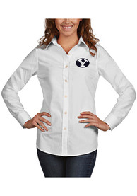 BYU Cougars Womens Antigua Dynasty Dress Shirt - White