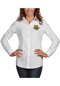 Marquette Golden Eagles Womens Antigua Dynasty Dress Shirt - White