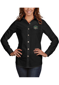 Antigua Ohio Bobcats Womens Black Dynasty Dress Shirt