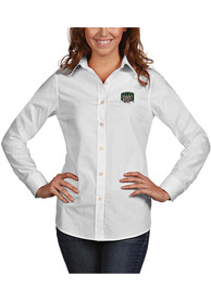 Ohio Bobcats Womens Antigua Dynasty Dress Shirt - White