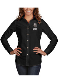 UMD Bulldogs Womens Antigua Dynasty Dress Shirt - Black