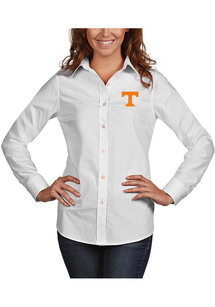 Tennessee Volunteers Womens Antigua Dynasty Dress Shirt - White