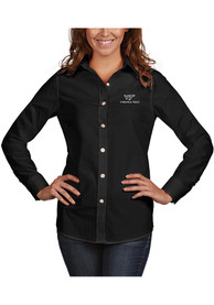 Antigua Virginia Tech Hokies Womens Black Dynasty Dress Shirt