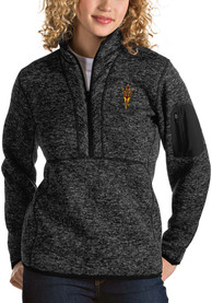 Antigua Arizona State Sun Devils Womens Fortune Black 1/4 Zip Pullover