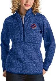 Antigua Boise State Broncos Womens Fortune Blue 1/4 Zip Pullover