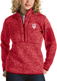 Antigua Indiana Hoosiers Womens Fortune Red 1/4 Zip Pullover