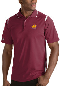 Central Michigan Chippewas Antigua Merit Polo Shirt - Red