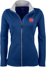 Detroit Pistons Womens Antigua Leader Medium Weight Jacket - Blue