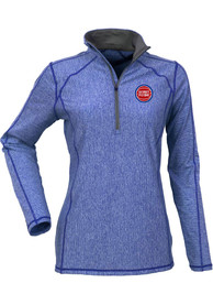 Detroit Pistons Womens Antigua Tempo 1/4 Zip - Blue