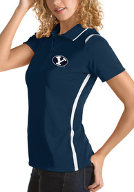 BYU Cougars Womens Antigua Merit Polo Shirt - Navy Blue