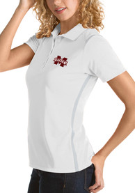 Mississippi State Bulldogs Womens Antigua Merit Polo Shirt - White