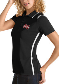 Mississippi State Bulldogs Womens Antigua Merit Polo Shirt - Black
