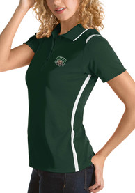 Ohio Bobcats Womens Antigua Merit Polo Shirt - Green