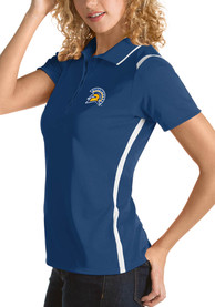 San Jose State Spartans Womens Antigua Merit Polo Shirt - Blue