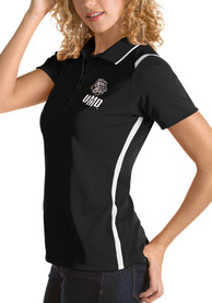 UMD Bulldogs Womens Antigua Merit Polo Shirt - Black