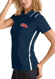 Ole Miss Rebels Womens Antigua Merit Polo Shirt - Navy Blue