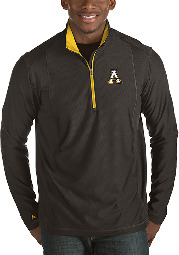 Antigua Appalachian State Mountaineers Mens Black Tempo Long Sleeve 1/4 Zip Pullover - Image 1