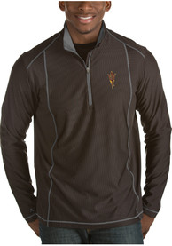 Arizona State Sun Devils Antigua Tempo 1/4 Zip Pullover - Black