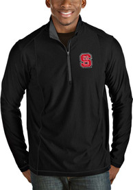 NC State Wolfpack Antigua Tempo 1/4 Zip Pullover - Black