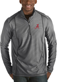 Alabama Crimson Tide Antigua Tempo 1/4 Zip Pullover - Grey