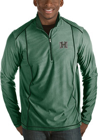 Hawaii Warriors Antigua Tempo 1/4 Zip Pullover - Green