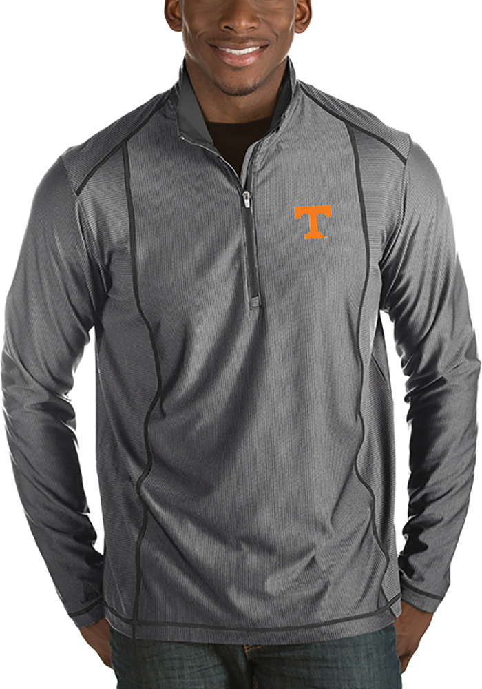 Tennessee Volunteers Antigua Tempo 1/4 Zip Pullover - Grey