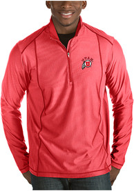 Utah Utes Antigua Tempo 1/4 Zip Pullover - Red