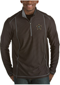Vanderbilt Commodores Antigua Tempo 1/4 Zip Pullover - Black